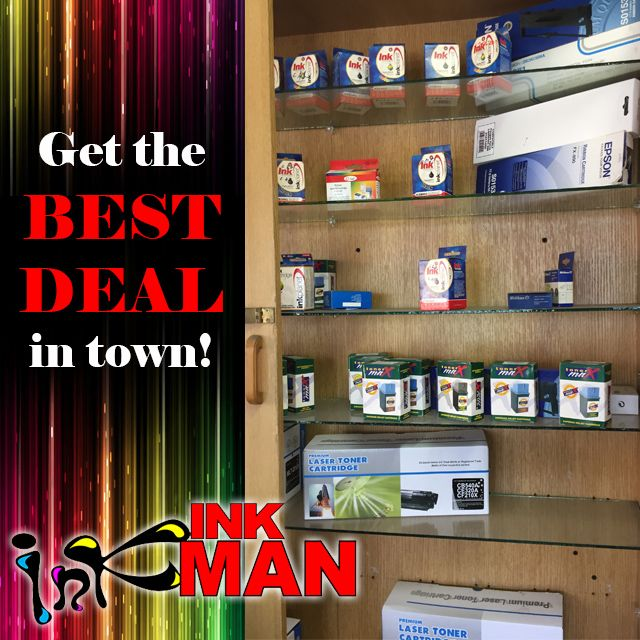 Running dry on printer #ink & #toner? Need a #refill #replacement? BEST DEAL from #INKman http://buff.ly/1QnqeHG