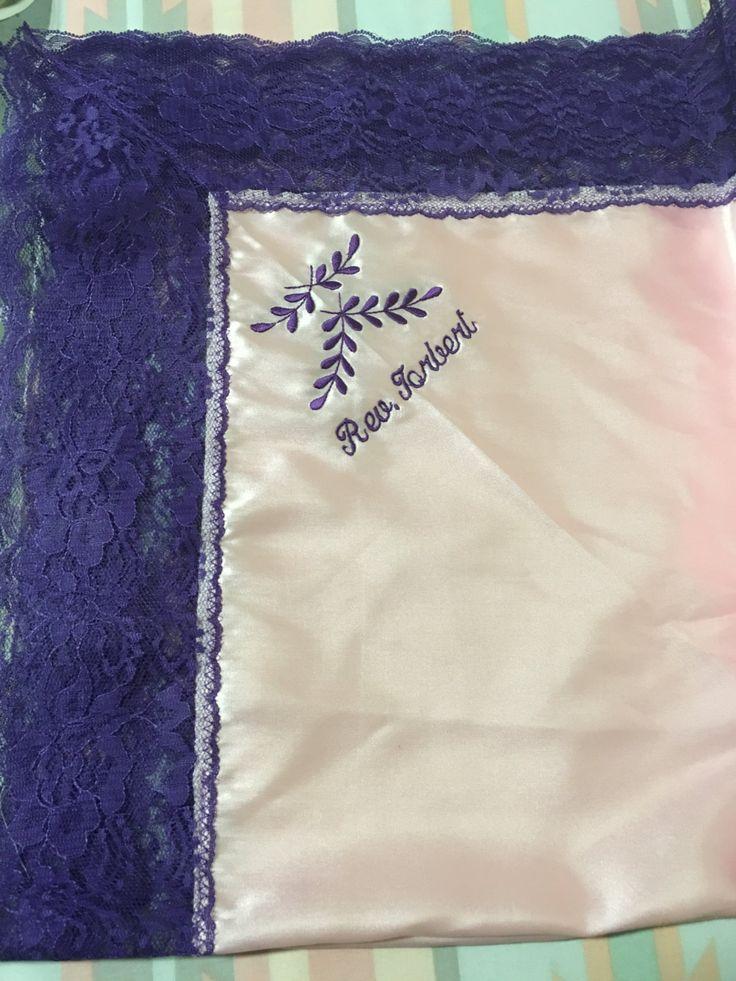 custom lap scarves lap cloth satin monogrammed church monogram handkerchiefs wedding brides mom