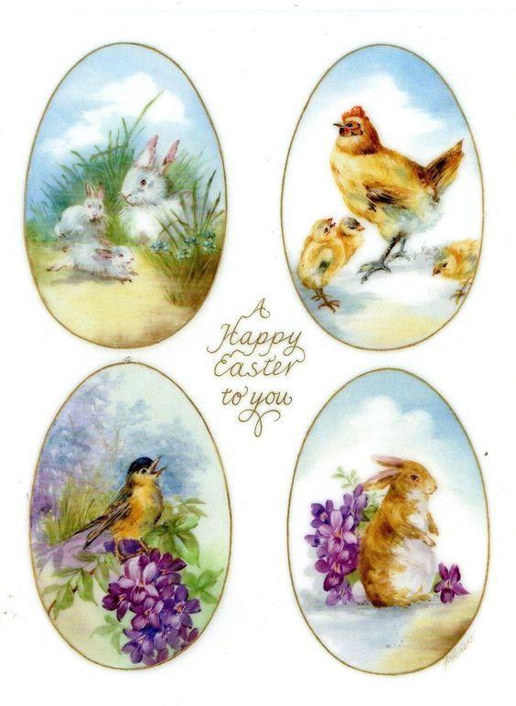 Картинки белом, картинки для пасхальных яиц декупаж