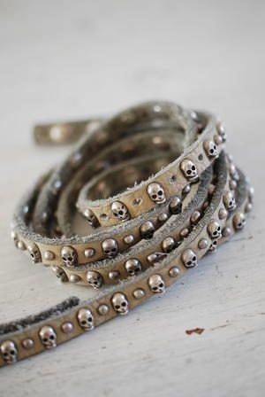 ★ Rock 'n' Roll Style ★ Biskopsgarden Skull Studded Belt