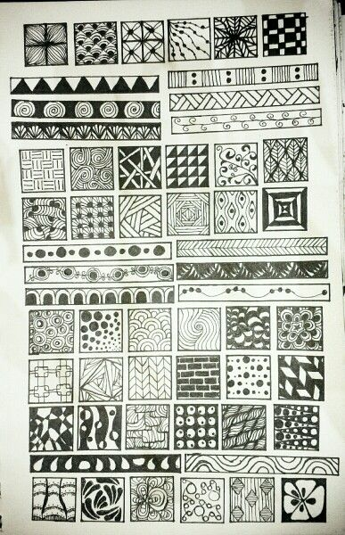 Doodle tangle pattern Zentangles and zendoodles