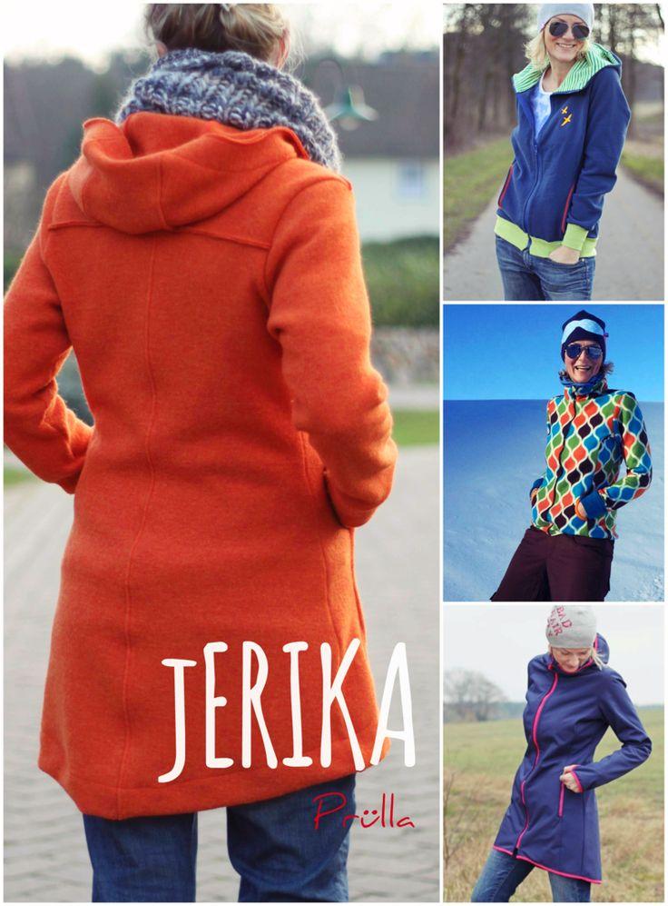 EBook Schnittmuster jERIKA – Kurzmantel, Jacke, Mantel, Walkjacke, Sweatjacke, Strickjacke, nähen, sewing