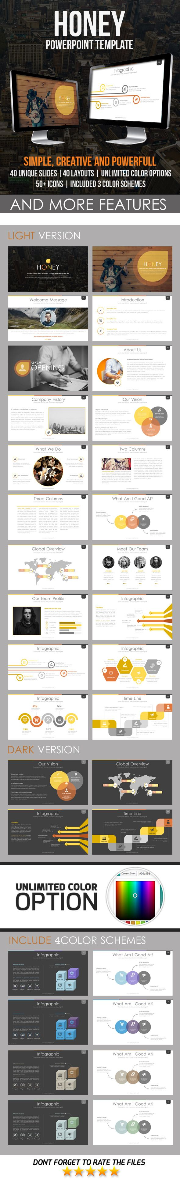 Honey PowerPoint Template #design Download: http://graphicriver.net/item/honey-powerpoint-template/11548292?ref=ksioks