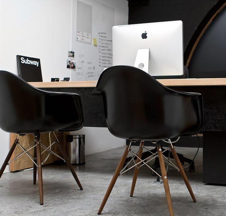best 25 black eames chair ideas on pinterest white desk black chair eames chairs and white. Black Bedroom Furniture Sets. Home Design Ideas