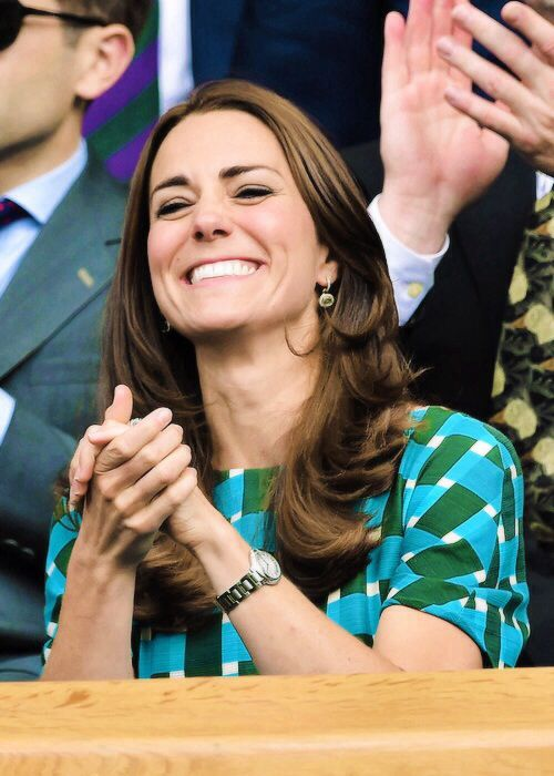 Catherine, Duchess of Cambridge attends day thirteen of the Wimbledon Lawn Tennis Championships, July 6, 2014.