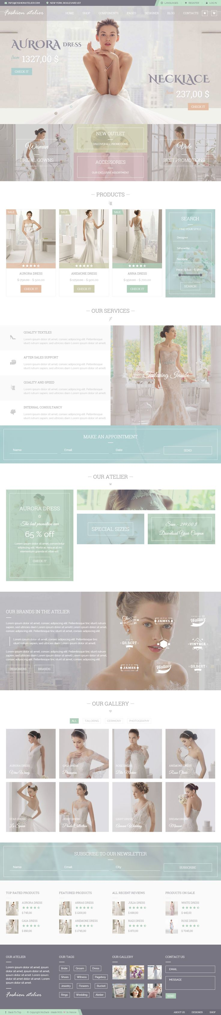 Fashion Atelier is Premium full Responsive Retina HTML5 Wedding template. Video Background. Parallax Scrolling. Isotope. Test free demo at: http://www.responsivemiracle.com/cms/fashion-atelier-premium-responsive-wedding-bridal-groom-shop-html5-template/