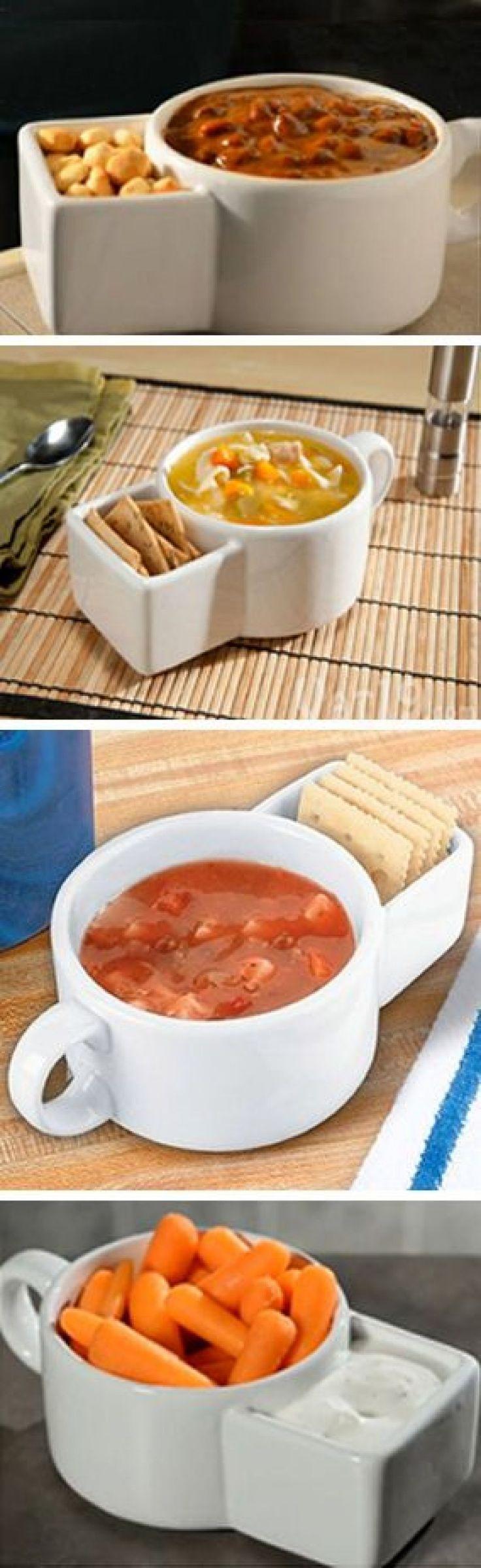 Soup and cracker ceramic mug