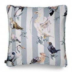 FLIGHTS OF FANCY Large Cotton Cushion Grey Stripe