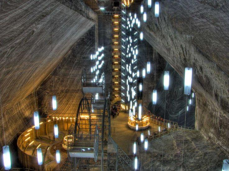 Enter Salina Turda - a salt mine in Transylvania, Romania.   I may have ancestors on my Deutsch line who lived in Turda.