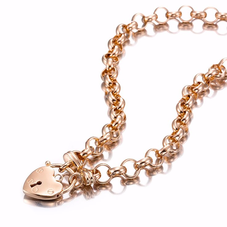 18ct Rose Gold Layered Belcher Necklace with Plain Locket | Allure Gold