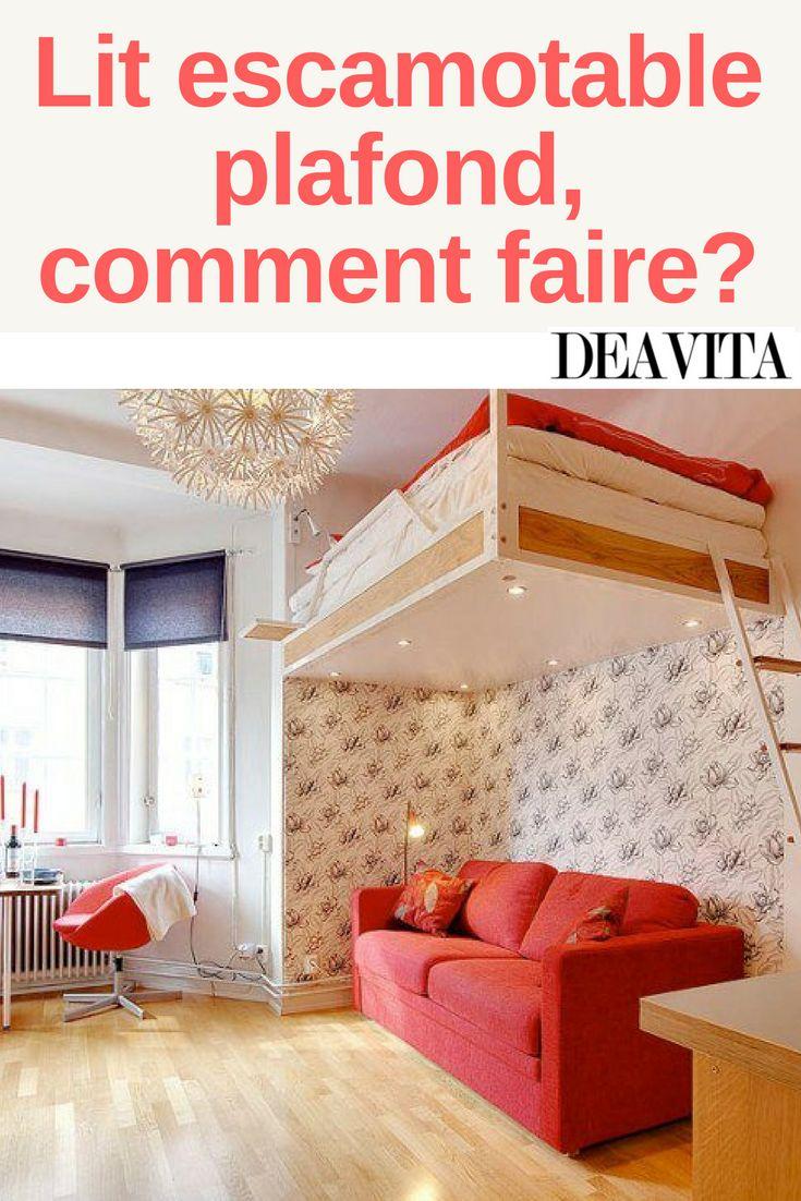 les 25 meilleures id es de la cat gorie lit escamotable plafond sur pinterest lits. Black Bedroom Furniture Sets. Home Design Ideas