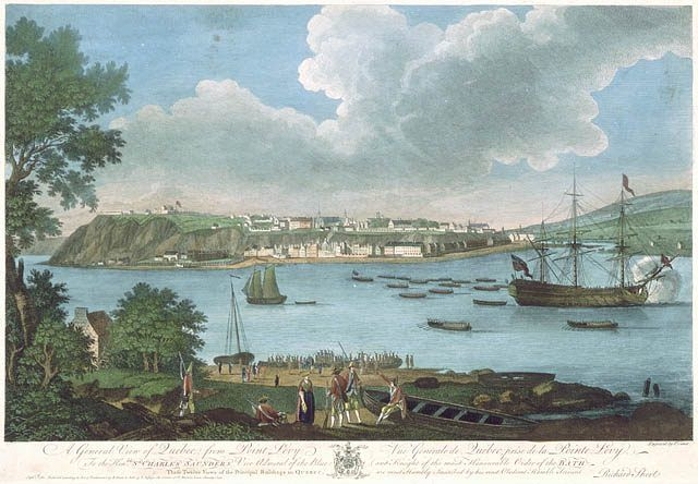 Levis Quebec   View of Quebec from Point Levis, 1760