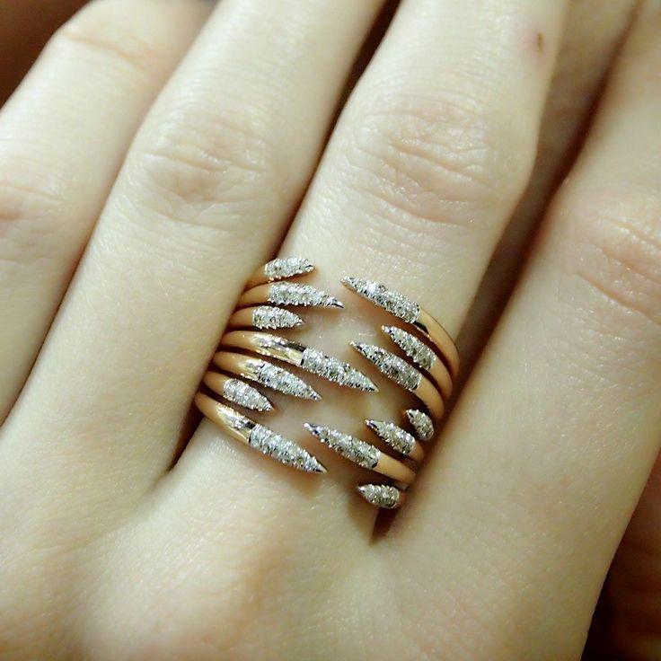 """Penumbra"" Diamond Multi Band Ring - Plukka - Shop Fine Jewelry Online"