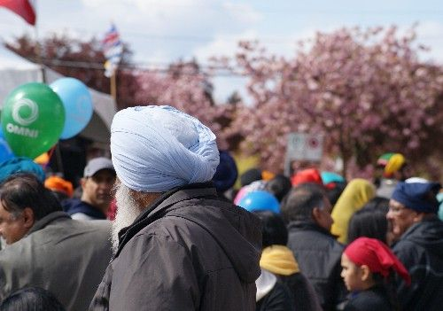 Hundreds of thousands of people and millions of cherry blossoms turned out for the Vancouver Vaisakhi Parade in 2015.
