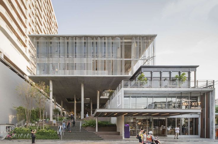 FIRM: Department of ARCHITECTURE;  PROJECT: The Commons; LOCATION; Bangkok, Thailand. Commercial mixed-use multi-story structure that combines public space, planting, shade structures and air flow in crafting a vertical experience that taps into public life at the ground and feeds it upward throughout the building.