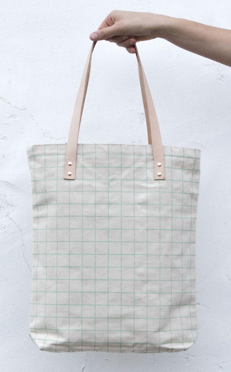 Tote Bag - Inside the Grid Tote by VIDA VIDA pgHt8ch