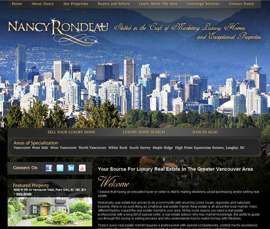 Website Real Estate Desain Terbaik - Nancy Rondeau - Port Coquitlam, BC