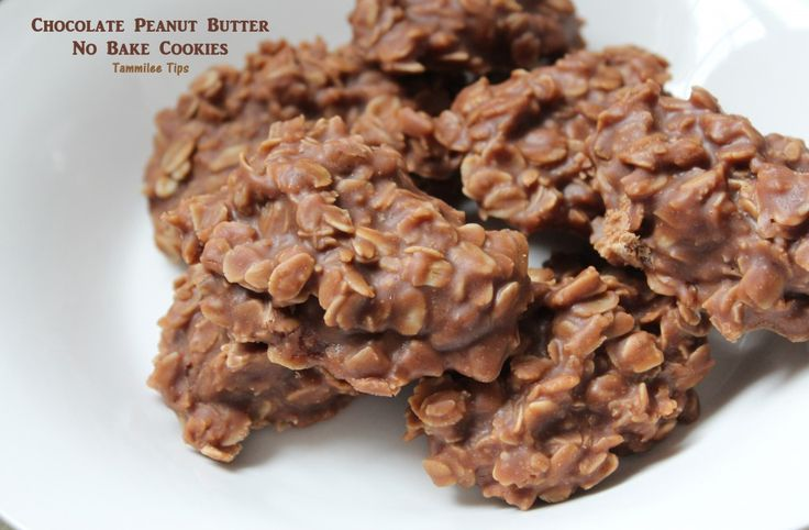 Chocolate Peanut Butter No Bake Cookies Recipe