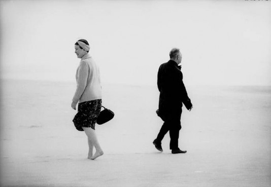 simone de beauvoir and jean paul sartre in nida, lithuania, 1965 by antanas sutkus