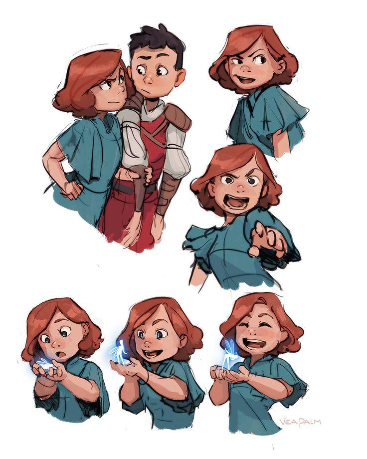 Animation Character Designs, Vanessa Palmer on ArtStation at https://www.artstation.com/artwork/yXlJn