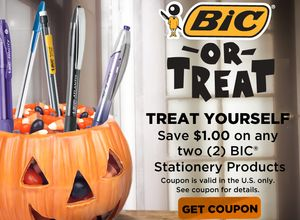 Facebook: $1/2 BIC Stationary Products