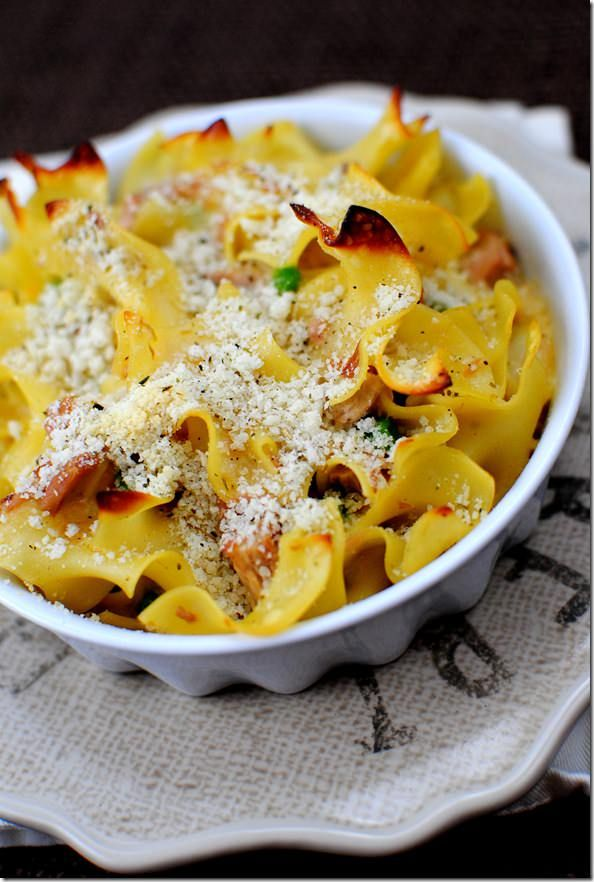 Tuna Noodle Casserole is a classic — luxurious and creamy, and so satisfying! | iowagirleats.com