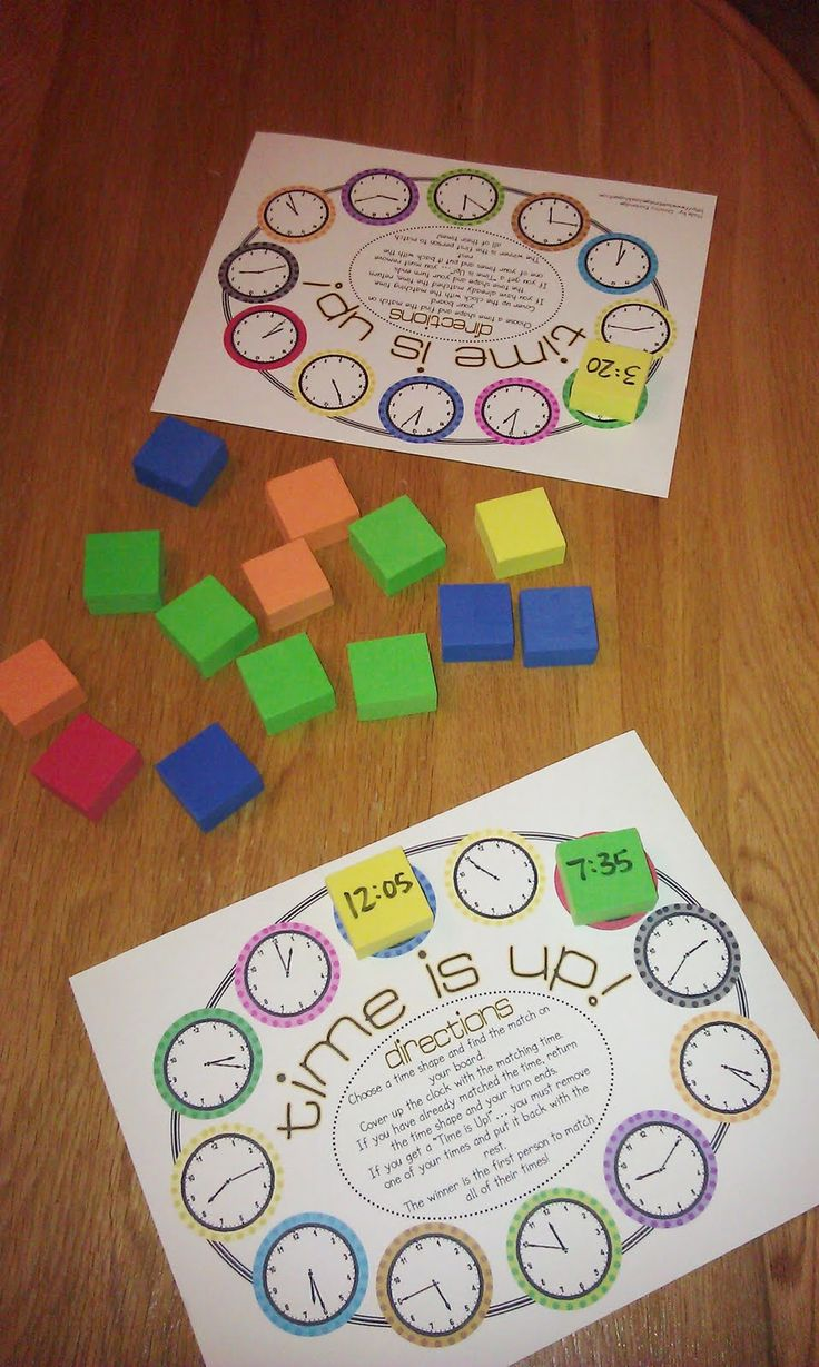 """Telling time activities:  FREE """"Time's Up!"""" Telling time game from Bunting Books. Cute! :-)"""