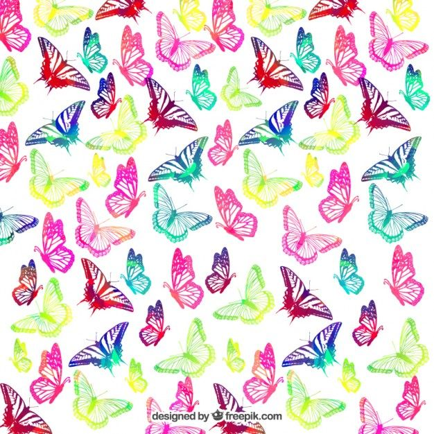 Free vector Colorful Butterflies background #19894