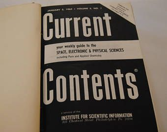 Current Contents/Jan 1965/Bound from the library of Philo T. Farnsworth