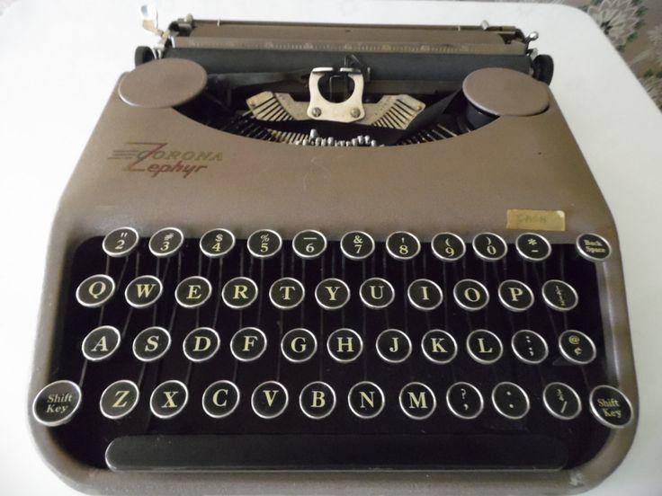 "Vintage Corona Zephyr, L C Smith & Corona Typewriter, Compact ""Nine Pound Wonder"" WWII Era"