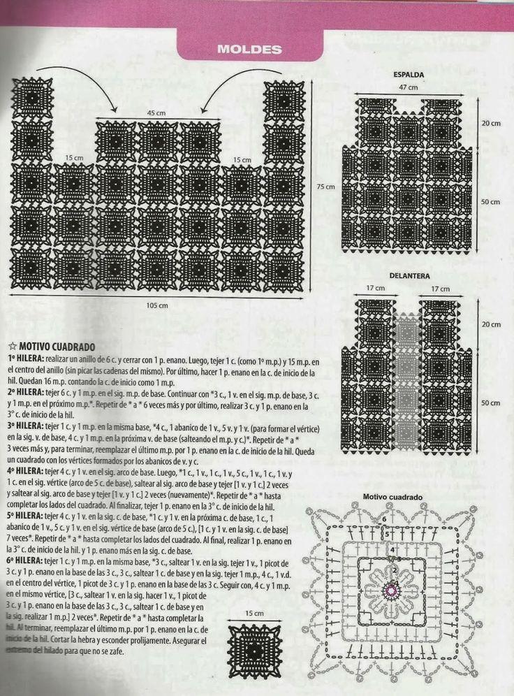 Lujo Patrones Cuadrados De Ganchillo Para Principiantes Galería ...