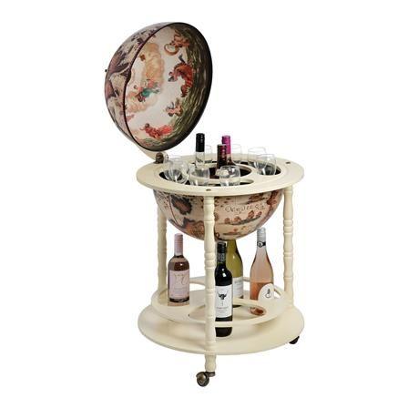 Globe Drinks Cabinet, Cream