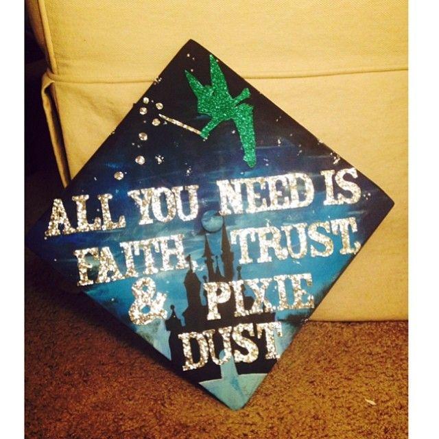 40 Creative Graduation Caps Worth an A-Plus @emilyawhite Peter Pan Cap!!