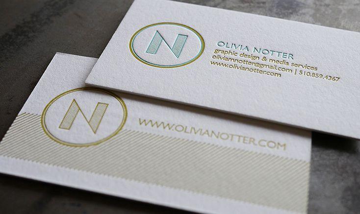 Gorgeous TwoSided Letterpress Business Cards  Design