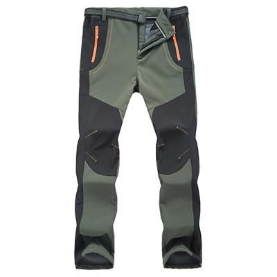 New Winter Men/Women Hiking Pants Outdoor Softs-hell Waterproof