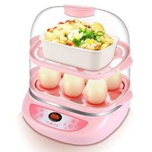 Yoice Multi-function Electric Two Layers 12 Eggs Boiler Cooker Steamer Kitchen Cooking Tool