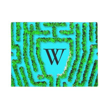 #monogrammed - #Colonial Maze design-personalize with your initial Doormat