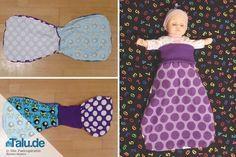 Ein Schlafsack fürs Baby ist kuschelig und praktisch zugleich. Wir verraten Ihnen in dieser Anleitung, wie Sie einen solchen Pucksack nähen können.