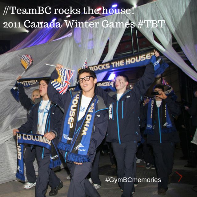 #ThrowbackThursday Team BC rocks the house at the 2011 Canada Winter Games! #GymBCmemories #CGgymnastics #WEareBC