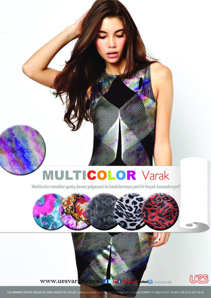 Multicolor Foil banner UES