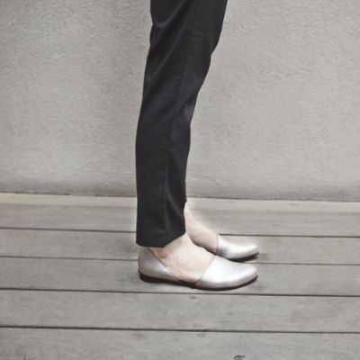 Flat silver evening shoes by WalkByAnatDahari on Etsy, $198.00