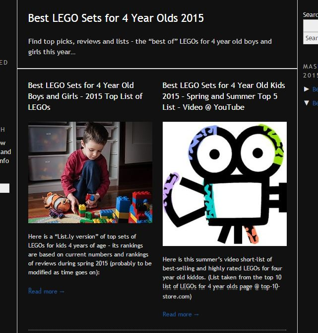 """Best LEGO Sets for 4 Year Olds 2015 @ Kid-Mash -- Find top picks, reviews and lists – the """"best of"""" LEGOs for 4 year old boys and girls this year…"""