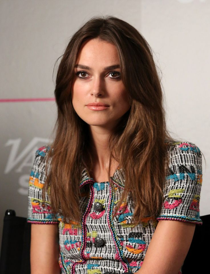 Keira Knightley opted for a casual center-parted 'do when she visited the Variety Studio.