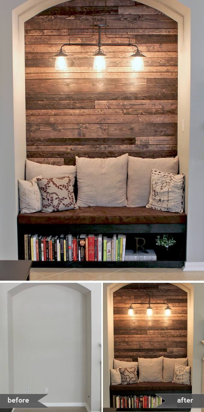 best 25 wall nook ideas on pinterest charging stations pallet walls and master bedroom wood wall. Black Bedroom Furniture Sets. Home Design Ideas