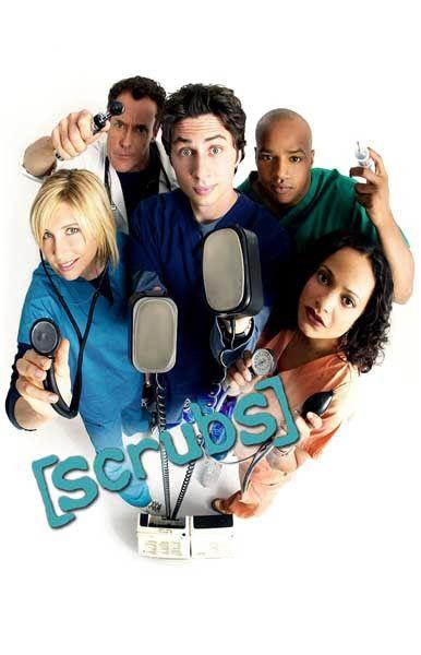 Scrubs Cast Zach Braff TV Show Poster 11x17