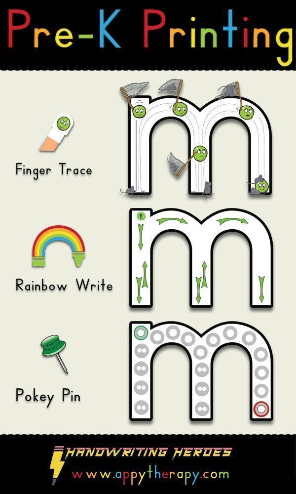 Pre-K Printing Handwriting Workbook AppyTherapy Rainbow Writing, Letter  Formation Printables, Alphabet Worksheets