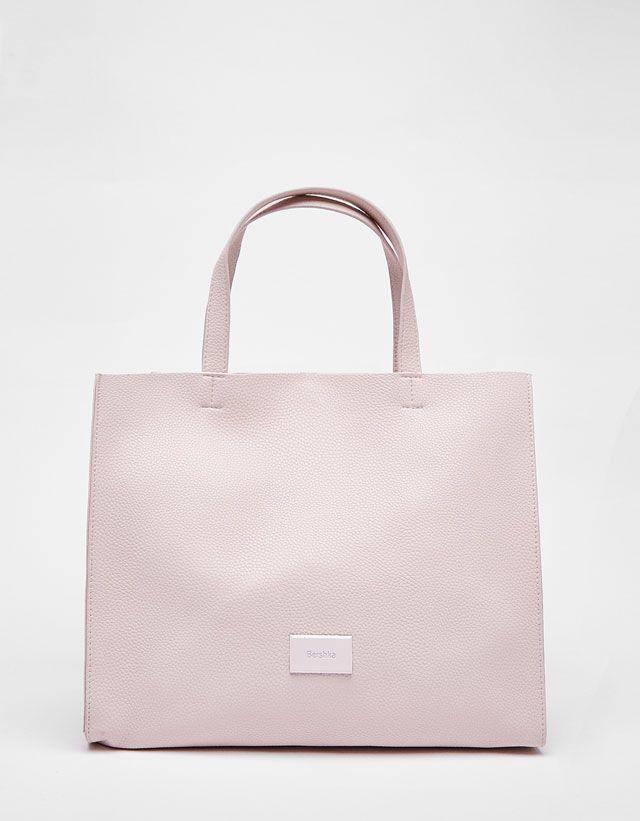 Soft Textured Tote Bag from Bershka £22,99