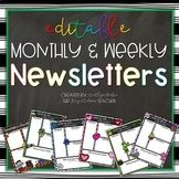 EDITABLE Monthly & Weekly Newsletter Templates