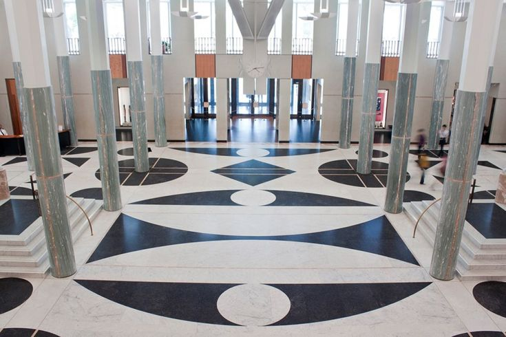 Parliament House Canberra | The Foyer | View towards the Entrance Doors