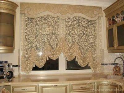 Anuncios Las cortinas de cocina pueden convertirse en un bonito elemento de decoración si así lo queremos. La idea es que la c...
